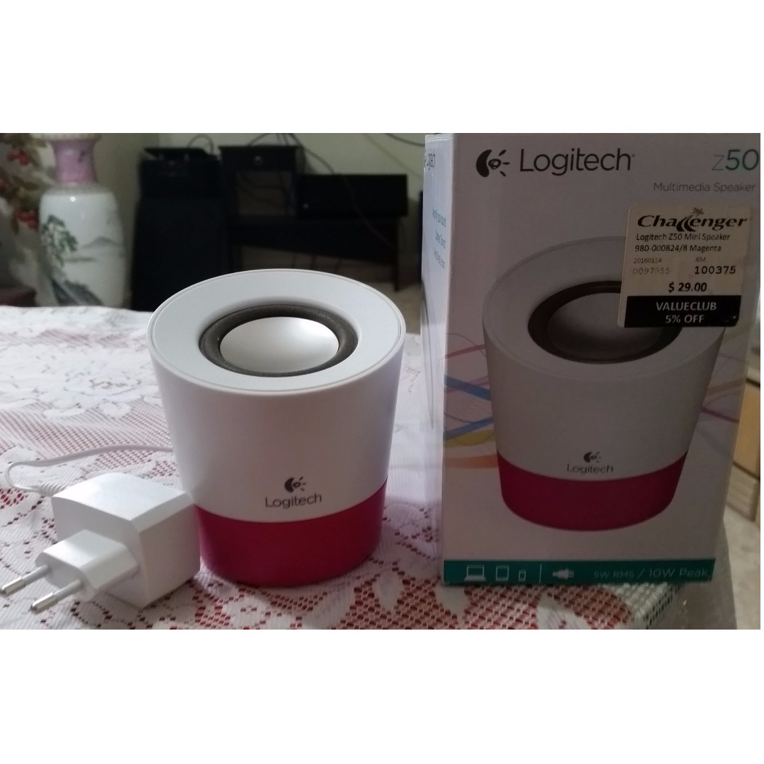 4f72337c730 Logitech Z50 Multimedia Portable Magenta Speaker, Electronics, Audio ...