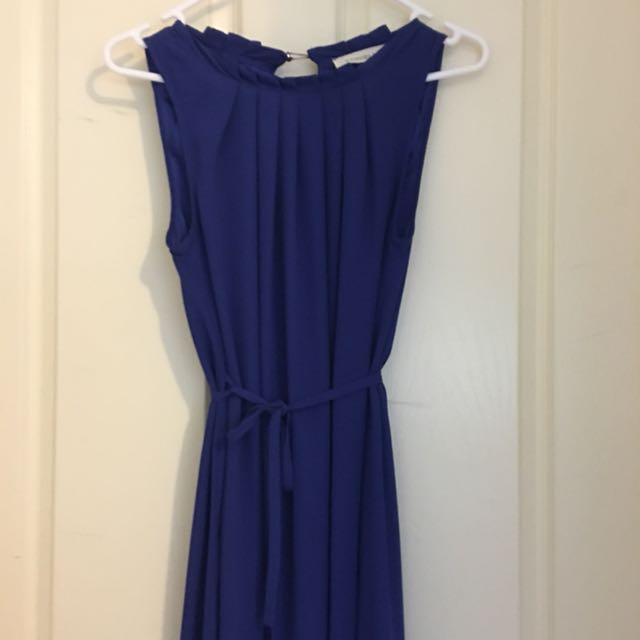 Long Deep Blue Dress