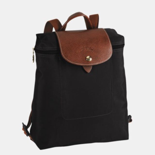 LONGCHAMP LE PLIAGE BACKPACK - BLACK