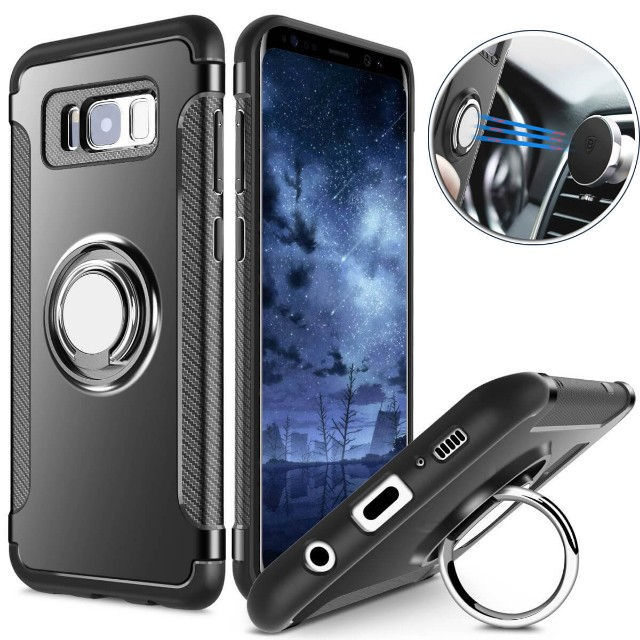 brand new 0c907 bb634 Samsung Galaxy S8/S8+ Magnetic 360 Ring Armour Case