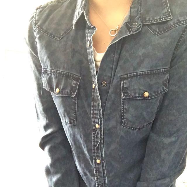 Mango Denim Shirt XS-Small