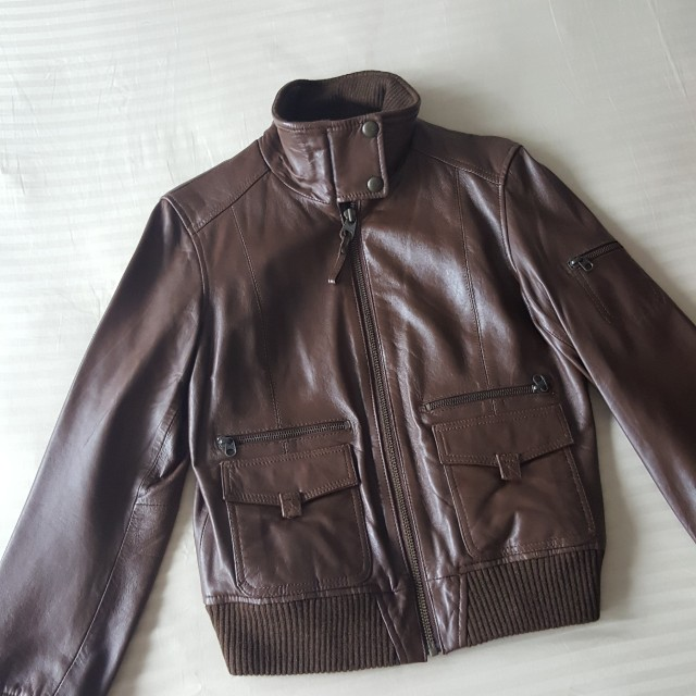 Mango Genuine Leather Jacket Ladies Women S Fashion Clothes