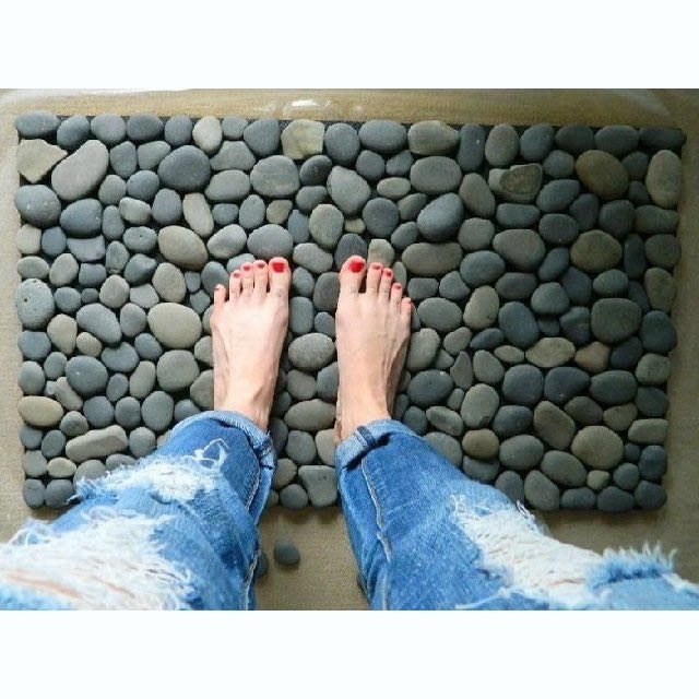 Massage Natural Stone Pebble Door Mat Home Outdoor, Home U0026 Furniture,  Others On Carousell