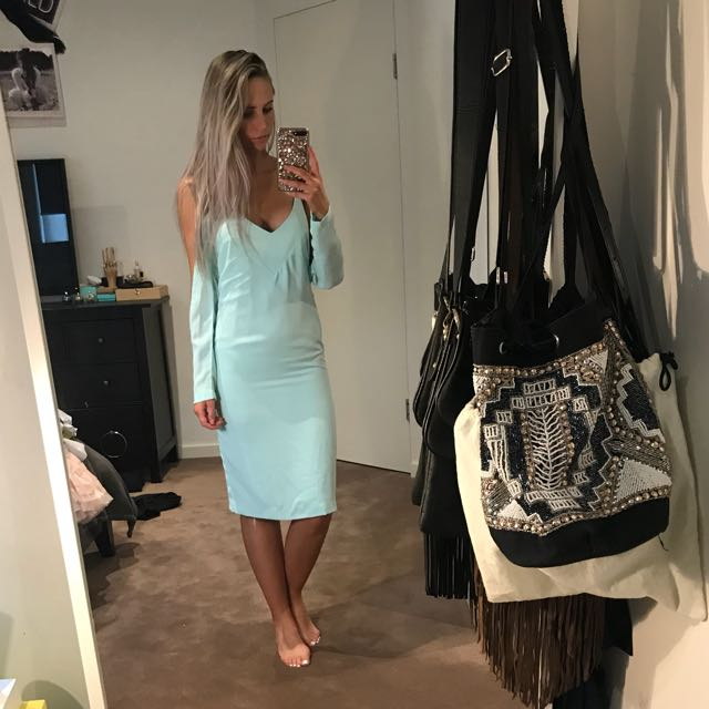 MAURIE & EVE Turquoise Dress With Arm Cutout