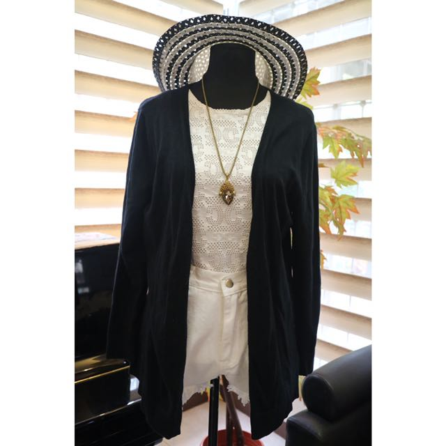 Meron Black Knit Cardigan