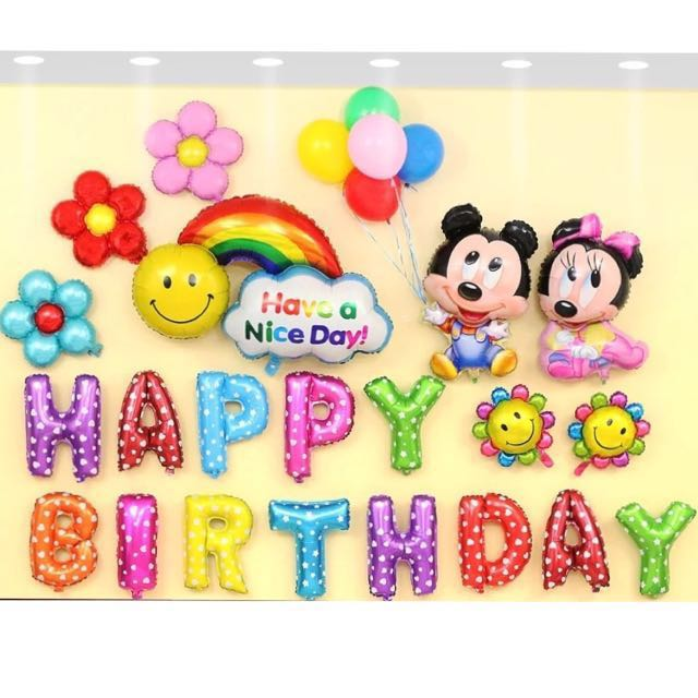 Mickey Minnie Mouse Birthday Decorations Balloons Babies Kids