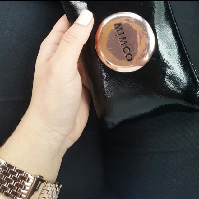 Mimco Black & RoseGold pouch