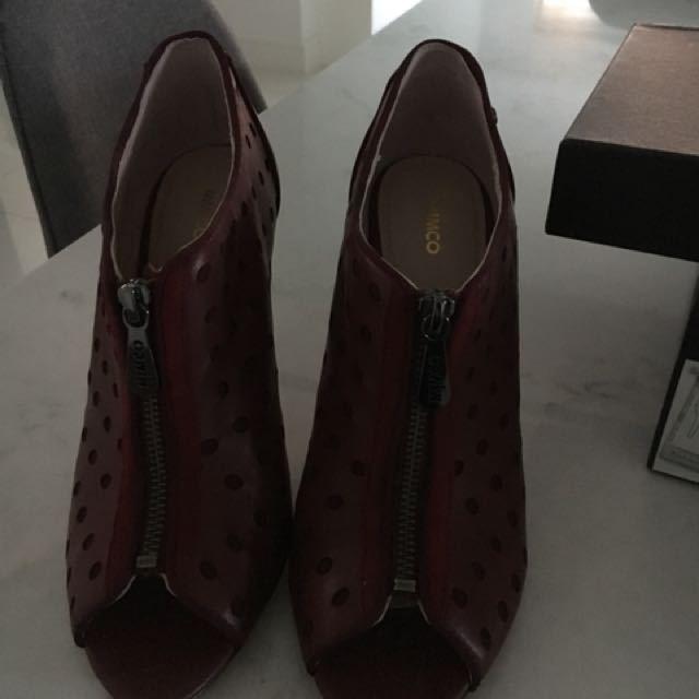 Mimco red booties