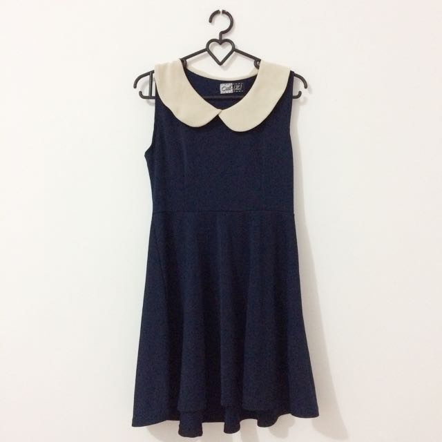 Mini Dress Blue Vintage
