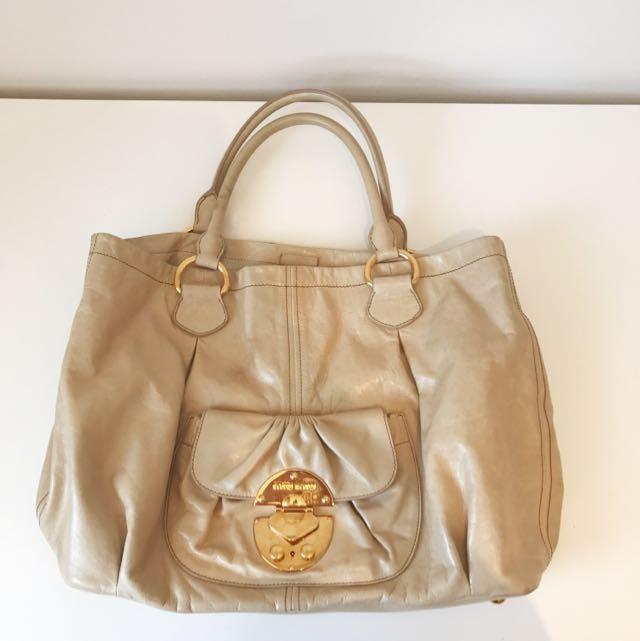 Miu Miu Vitello Vintage Handbag In Soia