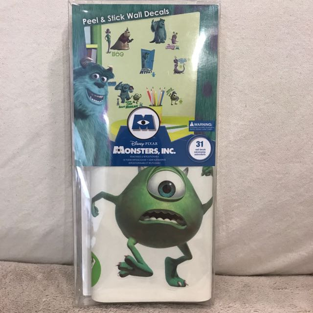 Monsters Inc Wall Decals Stickers Furniture Home Decor On Carousell