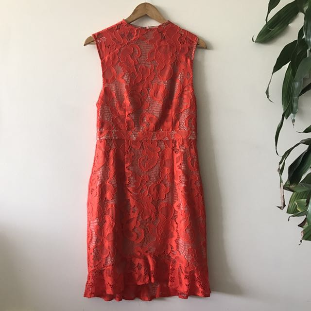 *NEW* Cooper Street size 12 red lace dress with lining