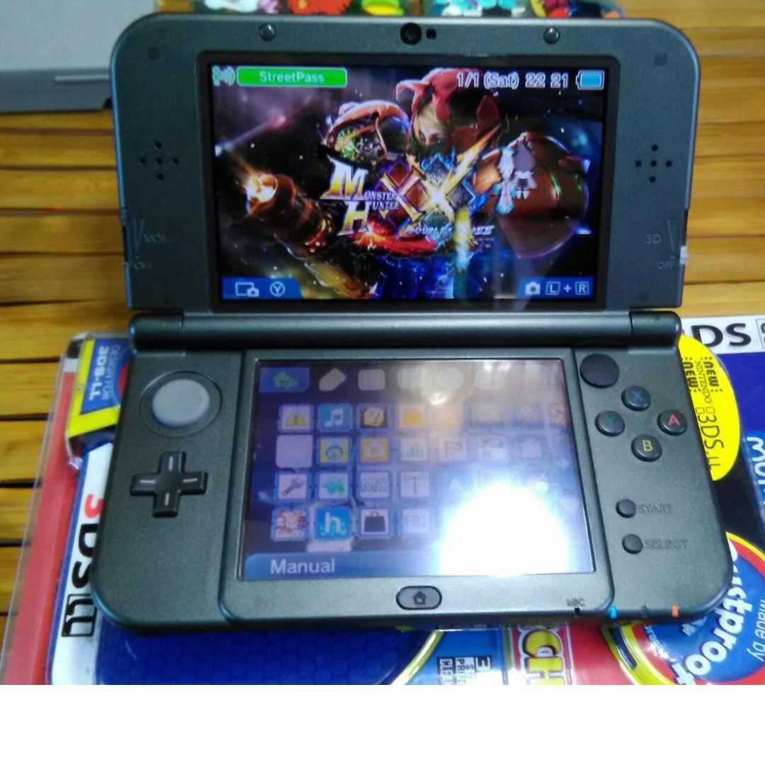 New Nintendo 3ds Xl Metallic Black 32gb 3 Ds Video Gaming Game Consoles On Carousell