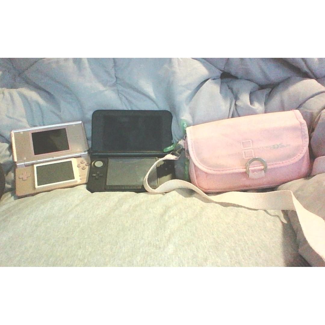 Nintendos DS (lite) and Nintendos 3DS (XL)