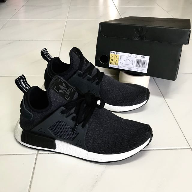 Nouvelle Adidas Nmd Chaussure Noir Toute Ib6yfg7vY