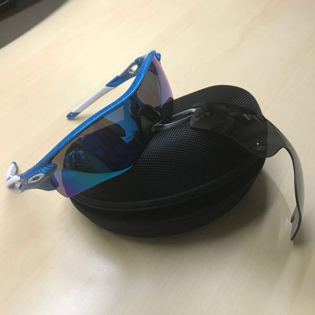 oakley radarlock fingerprint blue