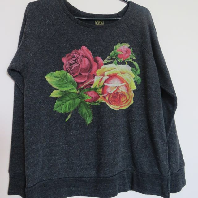Obey Floral Sweater