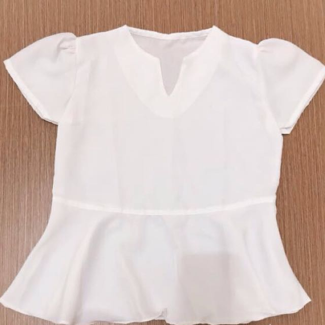 Peplum white blouse