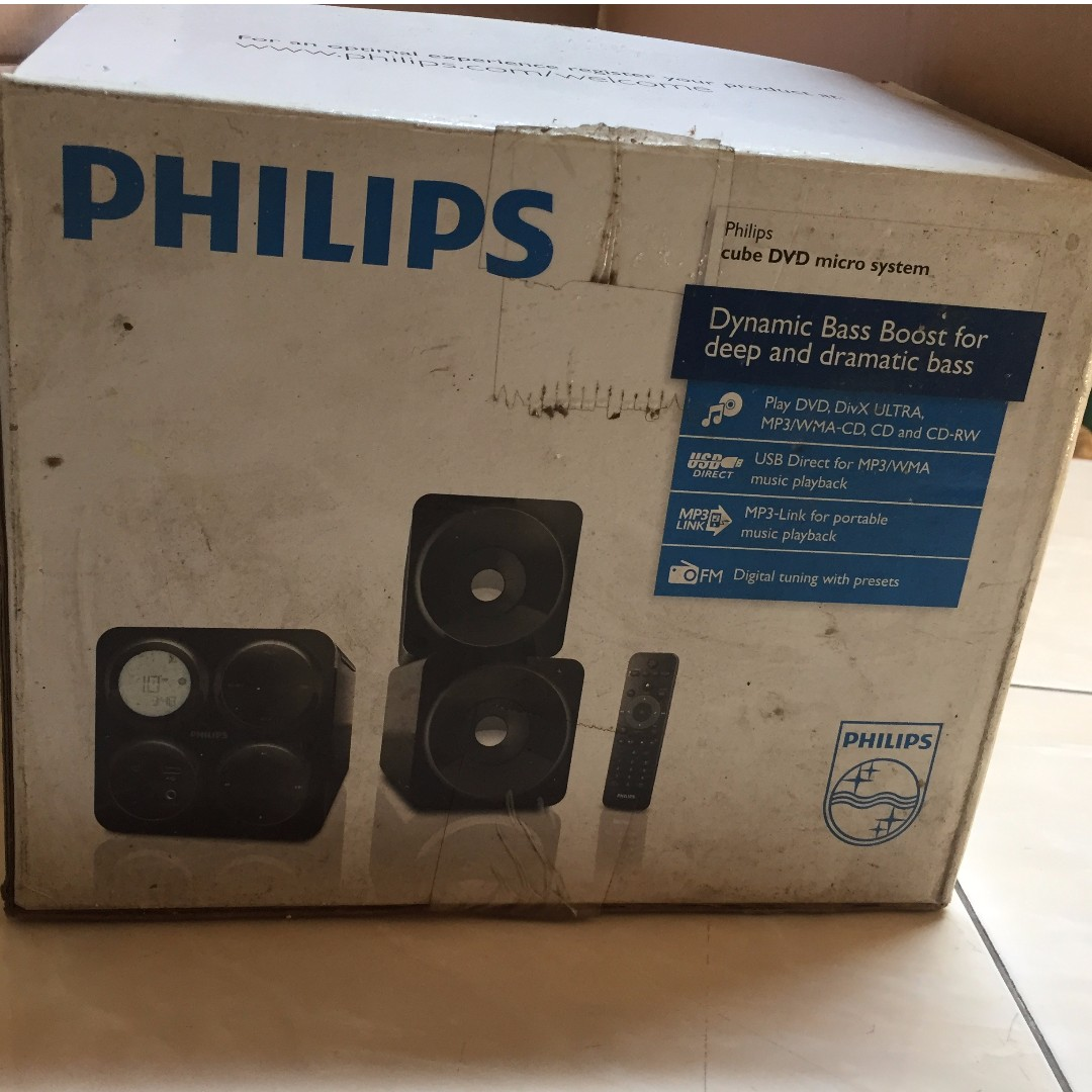 Philips MCD1065/98 Hitam Cube DVD Micro Audio System