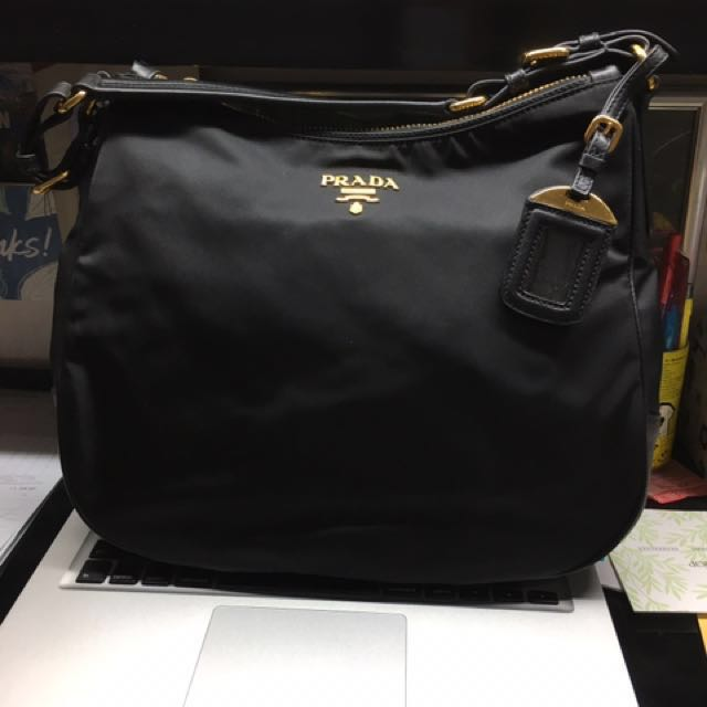 47478853fd2f ... top quality prada tessuto saffiano semishoulder bag nylon nero black  br4987 womens fashion bags wallets on