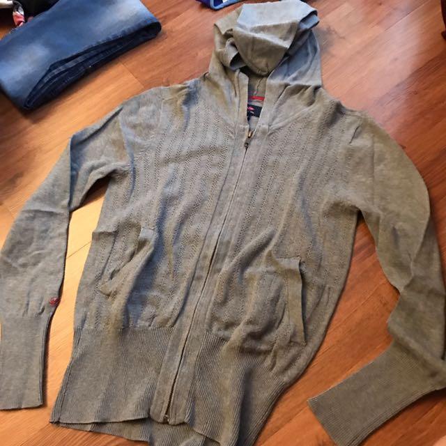 Preloved Lee Cooper Original Medium Grey Hoodie Jacket - Jaket hood abu abu sedang