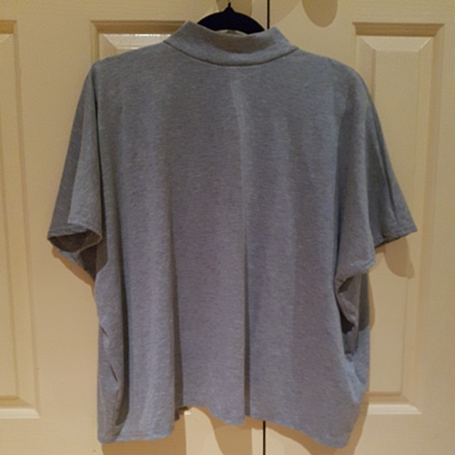 Pretty little thing grey open back top