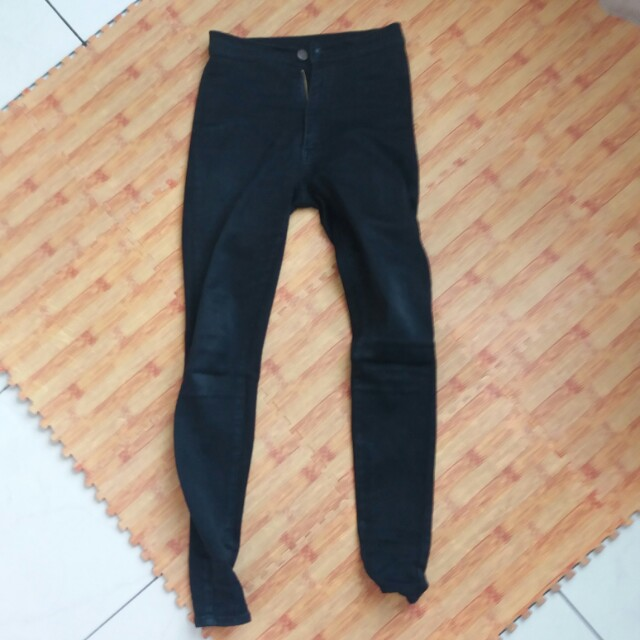 Punny Jeans High Waist Black 27