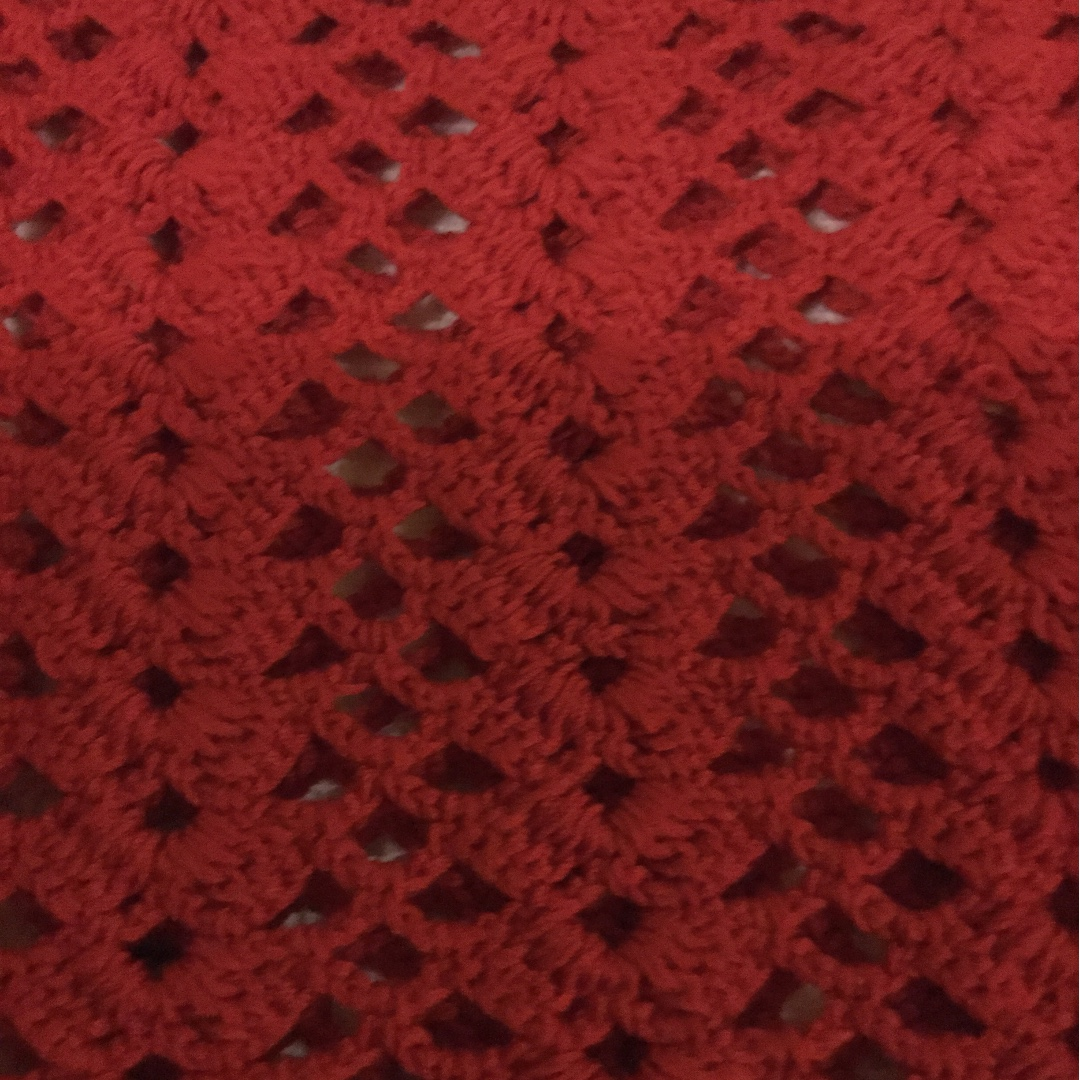 Red crocheted top