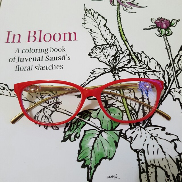 Red eyeglasses