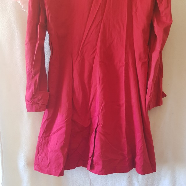 Red Target Trench Coat