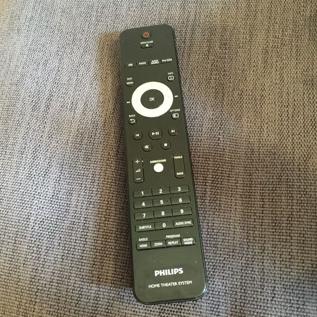 Remote control for Philip soundbar HTS 8140, Electronics