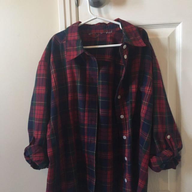 {retro oversized flannel}