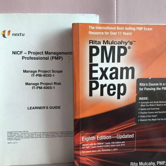 rita mulcahy s pmp exam prep eighth edition updated nicf pmp text