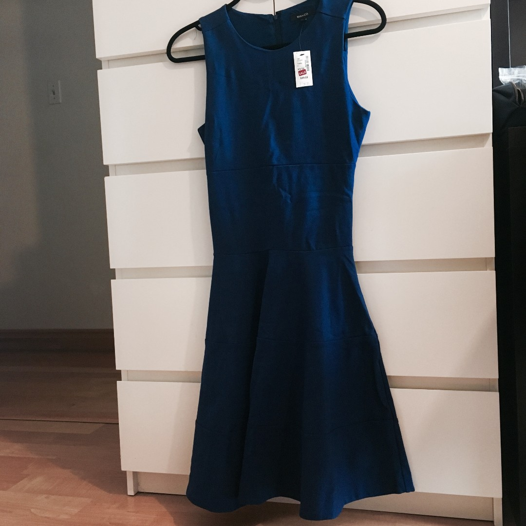 *REDUCED* RW & Co. Dark Blue Sleeve Less Dress- Brand New