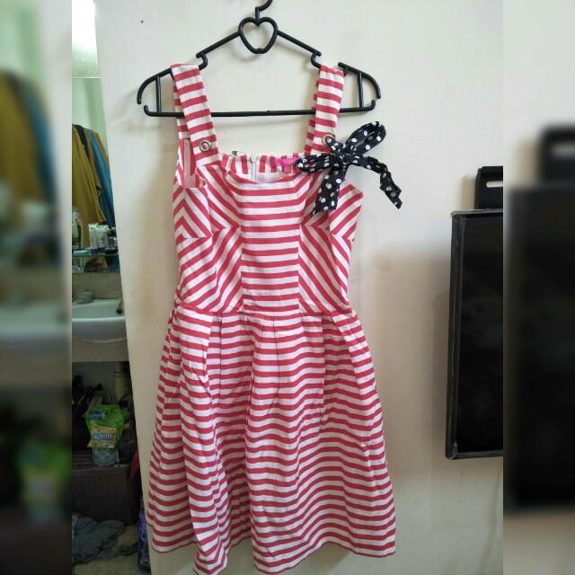 SALE ONLY 25K dress stripe