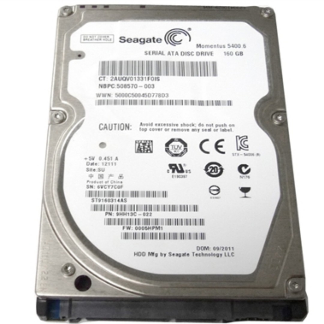 Seagate Momentus 54006 320gb Internal 5400rpm 25 St9320325as Hardisk Pc 250 Gb Sata Hdd Electronics Computer Parts Accessories On Carousell