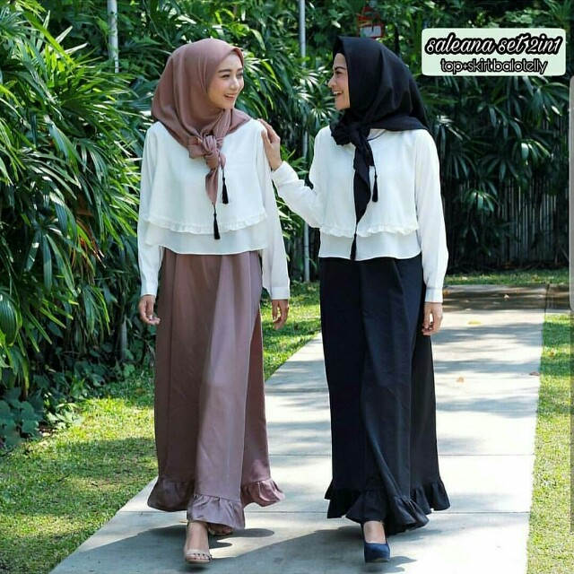 Seleana Set 2in1 Top + Long Skirt