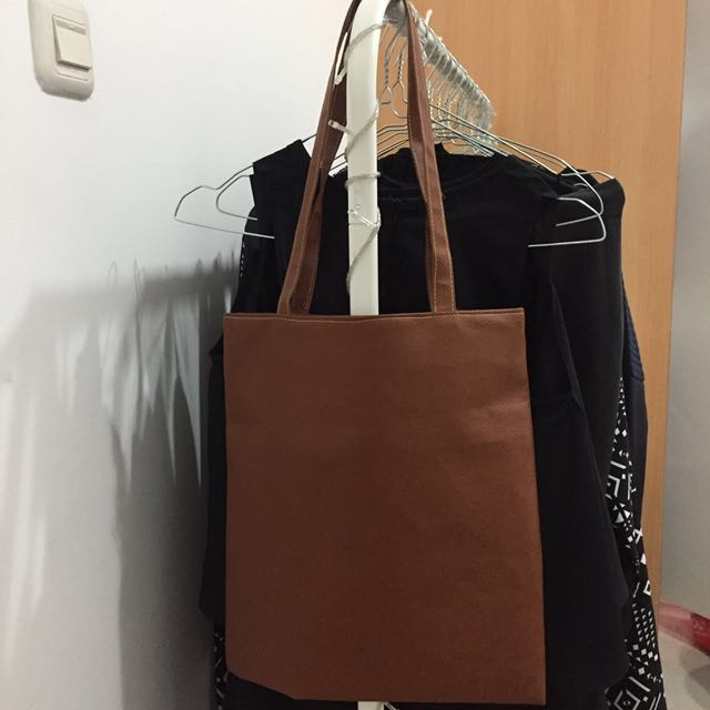 Semi-leather Totebag