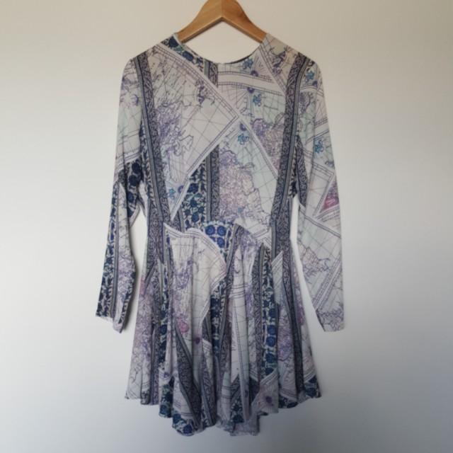 Shieke atlas print dress size 8