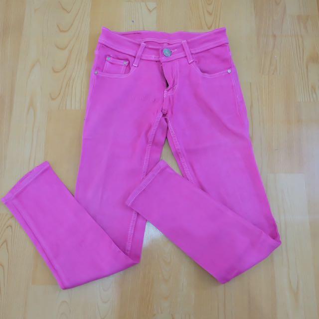 Shocking Pink Jeans