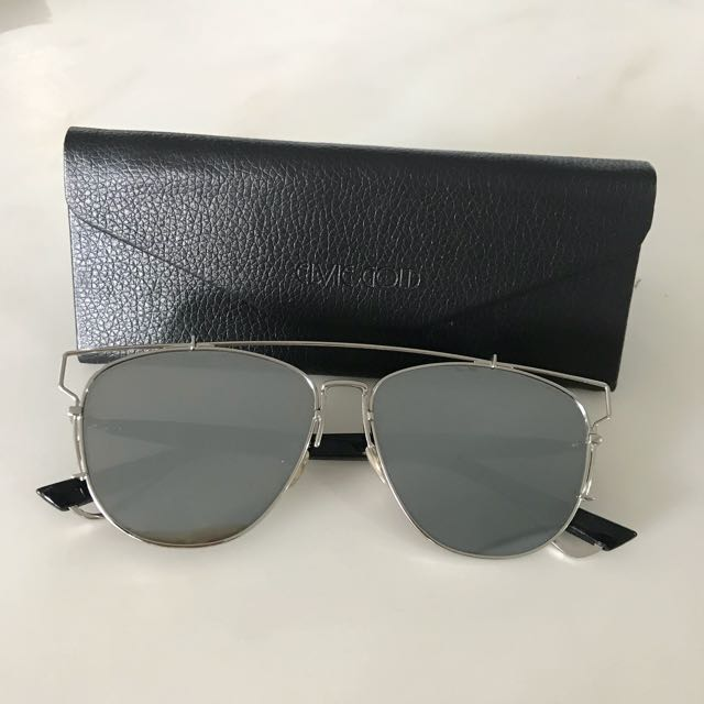 Silver Reflector Aviator Sunglasses - Dior Inspired