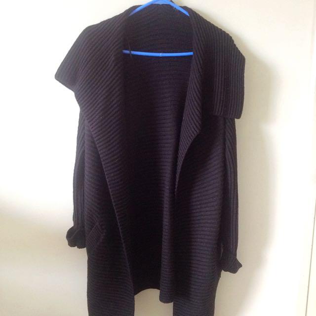 Sportsgirl Wool Thick Black Cardigan