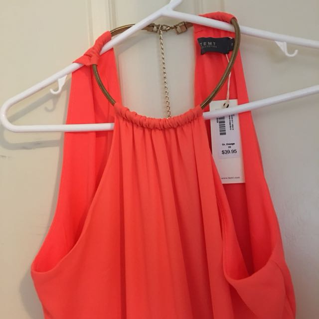 Temp Orange Dress