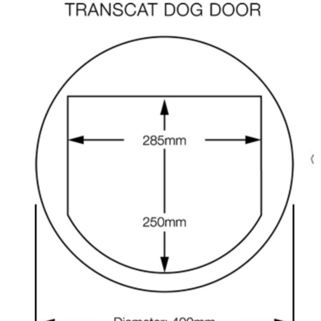 Transcat Two Way Transparent Pet Door Flap For Dogs Cats Pet