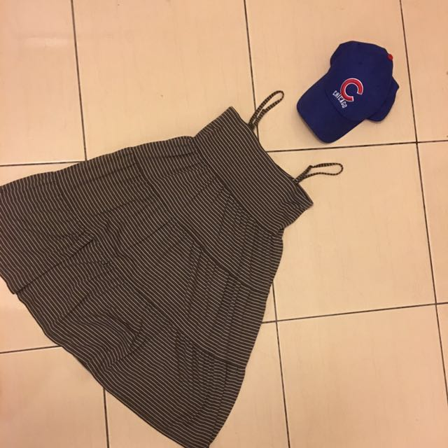 🤤近新日本UNIQLO 超好棉質洋裝/睡衣/連身裙/細肩洋裝