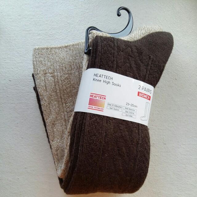 7e2e1a2b408 UNIQLO Heattech Knee High Socks