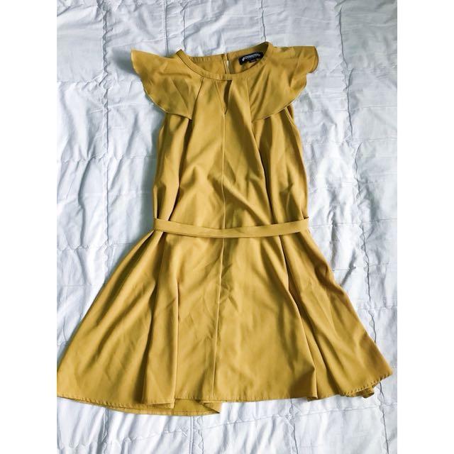 Urban Cottage mustard dress