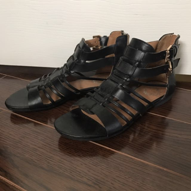 Urban Outfitters Black Gladiator Sandals