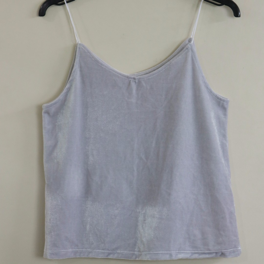 Velvet Cami Top (Gray only available)
