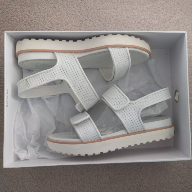 Wittners White Leather Sandals 37